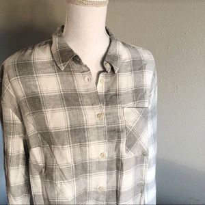 New with tags gray white flannel large Target
